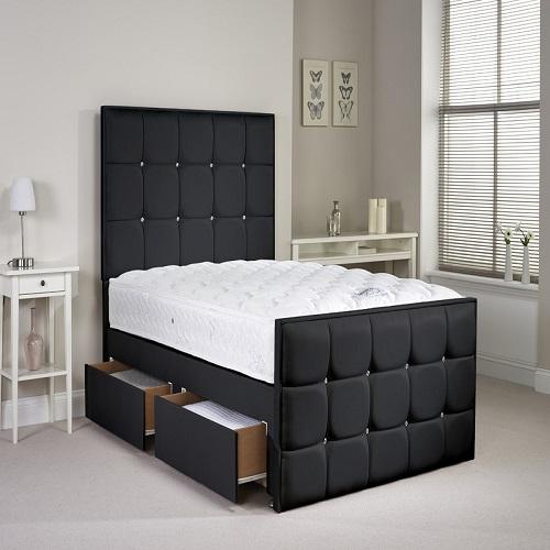 Henderson Divan Bed Set Black Unique India